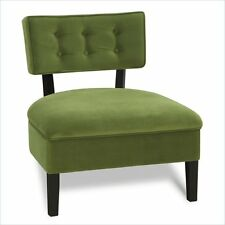 Avenue Six Curves Button Back Accent Chair