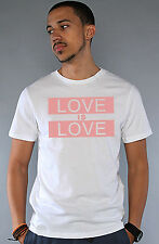Equality Equal Rights LGBT Gay Lesbian Marriage Love Is Love Pink White T Shirt