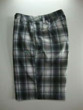 PUMA Golf Mens Plaid Tech Bermunda Golf Shorts Black White Blue NWT pick size