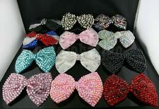 NEW 15 COLORS LARGE CRYSTAL BOW HAIR CLIP CLAW★1ST CLASS★