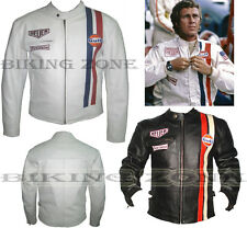 STEVE McQUEEN STYLE MENS CE ARMOUR MOTORBIKE / MOTORCYCLE LEATHER JACKET