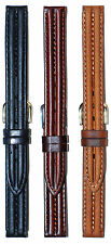 Hadley-Roma Oil-Tanned Watch Band LS884R Heavy Padded Black Brown Tan 12mm 14mm
