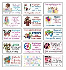 21 Custom BIRTHDAY PARTY GOODY BAG LABELS - TMNT, Doc McStuffins, Mario & More!