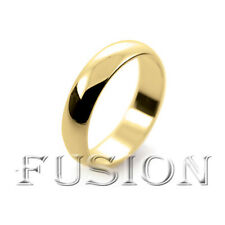 New 18ct Yellow Gold Heavy Weight D Shaped Wedding Ring Band