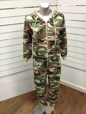 KIDS GIRLS BOYS  CAMOUFLAGE ALL IN ONE ONESIE ZIPPED POCKET CHILDRENS 2013