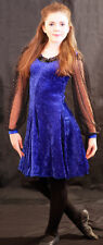 DELUXE BLUE Irish/Celtic Dancing Dress Perfect Dance or Show costume all sizes