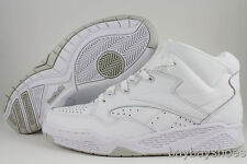 REEBOK BB4600 MID WHITE/GRAY NATURAL CLASSIC BASKETBALL LEATHER US MENS SIZES