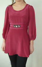 Dickins &Jones 100%silk mini dress size 8&12 raspberry lined fast post 75%off