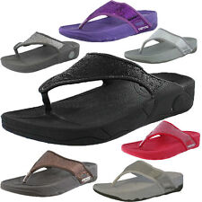 Womens Carrou Keep Fit Sequin Workout Fitness Flip Flop Sandals Toe Post UK 3-8