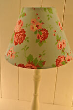 Shabby Chic coolie lampshade Cath Kidston Ikea Rosali rose on blue fabric