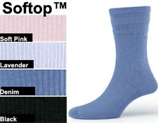 Ladies Soft Top Socks.  Wool and Cotton Available.  Various Colours.  Size 4 - 7