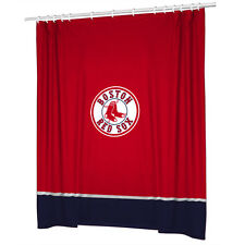 Boston Red Sox COMBO DEAL Shower Curtain & Window Valance Sets - See Options!