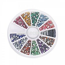 3000 PC'S, 11 Shapes, 12 Colors Crystal Flat Back Acrylic Rhinestones Gems - 2mm