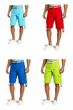 SOUTHPOLE Mens Basic Cargo Shorts 13121-3341/S NWT Red Green Blue pic size color