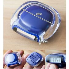 Crystal Multifunction LCD Running Diet Pedometer Step Counter Walking Distance