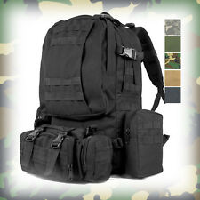 MILITARY Style LARGE MOLLE 3 DAY ASSAULT TACTICAL BACKPACK RUCKSACK BAG Black