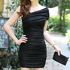 Womens Sexy Short Sleeve Ballgown Bodycon Warp Dress Mini Skirt Cocktail Party