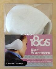 180S Ear Warmers Muffs Click to Fit Behind the Head White/Black Women Men Unisex