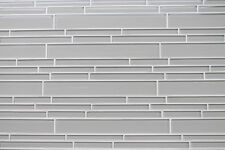 Country Cottage Off White Linear Glass Tiles for Kitchen Backsplash/Bathroom
