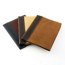 Leather Composition Book Cover - Refillable Notebook Cover - Rustico Leather