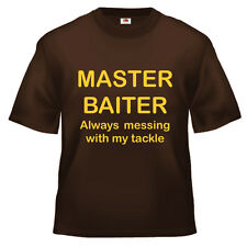 Funny Fishing master baiter fisherman T Shirt 100% cotton all sizes and colours