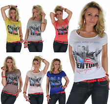 14q ★T Shirt Top 13 Colors Longshirt Photo Foto Print One Size ★ 34 XS - 38 M