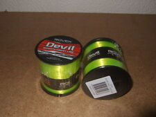 2 x Large Bulk Spools of ROVEX QUALITY FISHING LINE All Sizes 6-50lb Neon Yellow