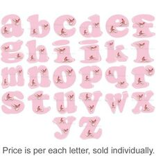 Name Wall Letters Alphabet Stickers Initial Decals Girls Decor Pink Dance Ballet