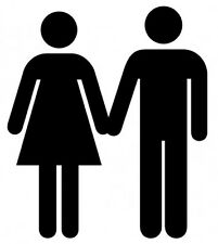 Couple Holding Hands Clip Art Sign Vinyl Wall Art Sticker in White Red etc
