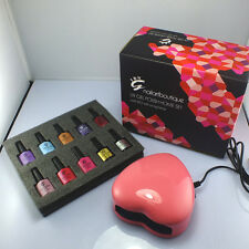 HOT! IBN GEL NAIL POLISH LED LAMP STARTER KIT Soak Off UV Nail Gel Polish Kit