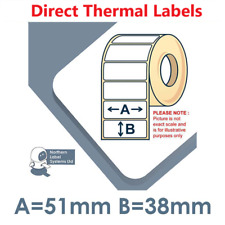 52mm x 38mm White Labels for Zebra, Citizen, Toshiba etc