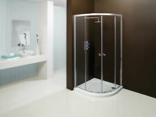 Merlyn 900mm Quadrant Shower Enclosure Cubicle & Tray Option Silver Frame