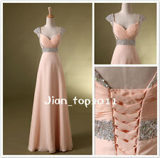 2013 Long Chiffon Bridesmaid Evening Formal Party Ball Gown Prom Wedding Dresses
