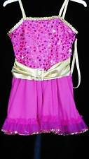 Curtain Call  Ruffle Skirt Sequins Foil Dance Skating Solo Costume CMED or CLG