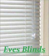 SUPERIOR MADE TO MEASURE WHITE WOODEN VENETIAN BLINDS 50MM Slats