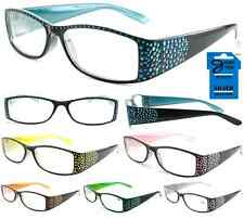 Plastic Color Reading Glasses with Rhinestones