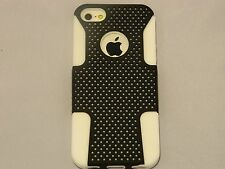 Two-Layer Silicone & Hard Case with Round Hole for iPhone 5