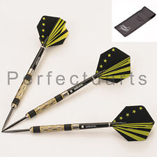 GOLD DUST TUNGSTEN DARTS SET, Unicorn Flights + Stems + Case, 21-32 gram