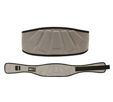 MET-X  Weight Lifting Belt Gym Back Support Training Lower Lumber New Silver