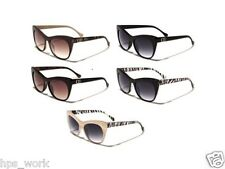 DG Sunglasses Women's Designer Retro Style Zebra Printed Vintage Fashion