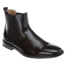 Bass Men's Amsterdam Black Leather Ankle Boot