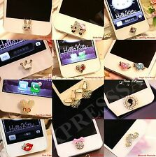 Fashion 3D Crystal Diamond Home Button Sticker For iPhone 4,4s,5,5c,5s,6,6 Plus