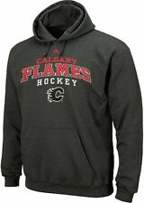 Calgary Flames NHL Licensed Majestic Enzyme Charcoal Pullover Hoodie Big Sizes