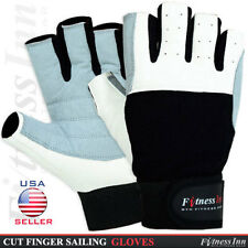 Sailing Gloves Cut Short Fingers Yachting Rope Sku Out Door Kayak Dinghy Fishing