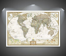 World Map Vintage Poster - A1, A2, A3, A4 sizes