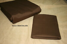 """Full size Dust Ruffle - Ruffled or Tailored - CHOCOLATE 14"""", 18, 21"""" drops"""