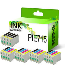 20 NON-OEM INK CARTRIDGES REPLACE FOR EPSON STYLUS PRINTER ( 4 SETS + 4 BK )