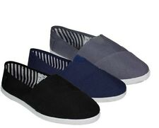 Mens Canvas Slip On Casual Shoes Flat House Slippers Martial Arts Kung Fu Style