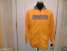 New Youth Adidas (All Sizes) Denver Nuggets Yellow Zipper Hooded Sweatshirt