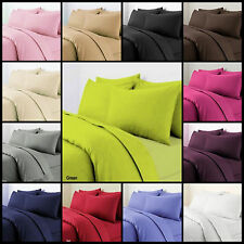 Plain Dyed Duvet Quilt Cover Set With Pillow Cases Single Double King All Sizes